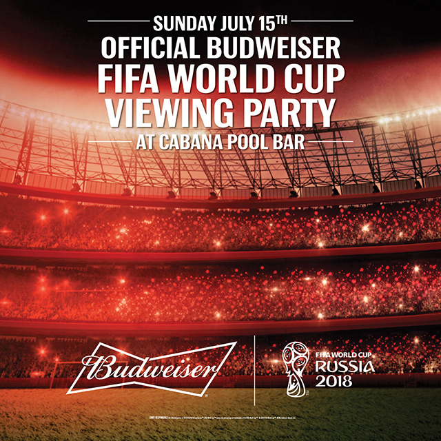 FIFA World Cup Viewing Party at Cabana Pool Bar ⋆ Dine Magazine