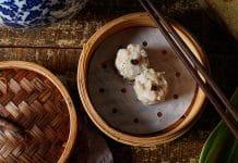 Soft Quail Egg, Iberico Pork, Black Truffle Siu Mai from Mott 32