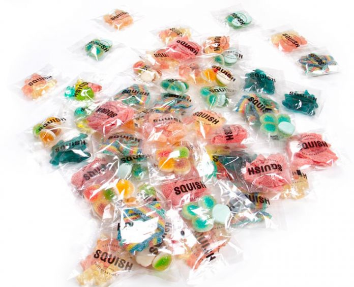 Individual packs of candy