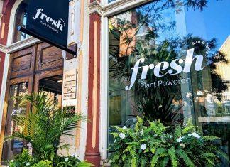 Outside of Fresh on Front, the plant based restaurant