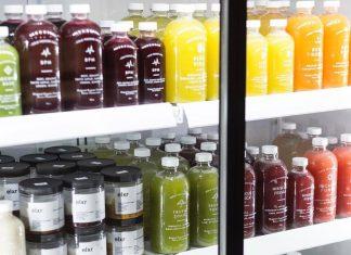 Juices in fridge