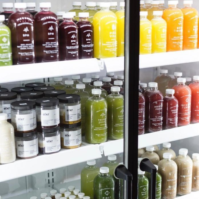 Juices in fridge