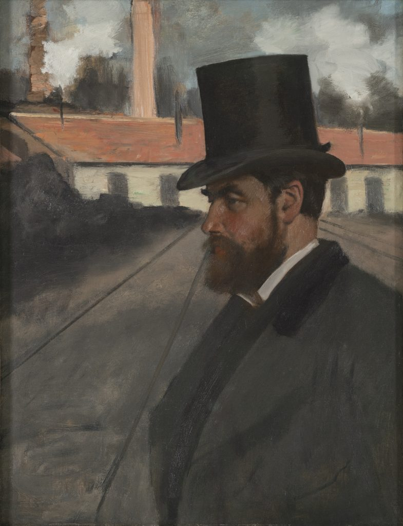 Edgar Degas. Henri Rouart in front of his Factory, 1875.