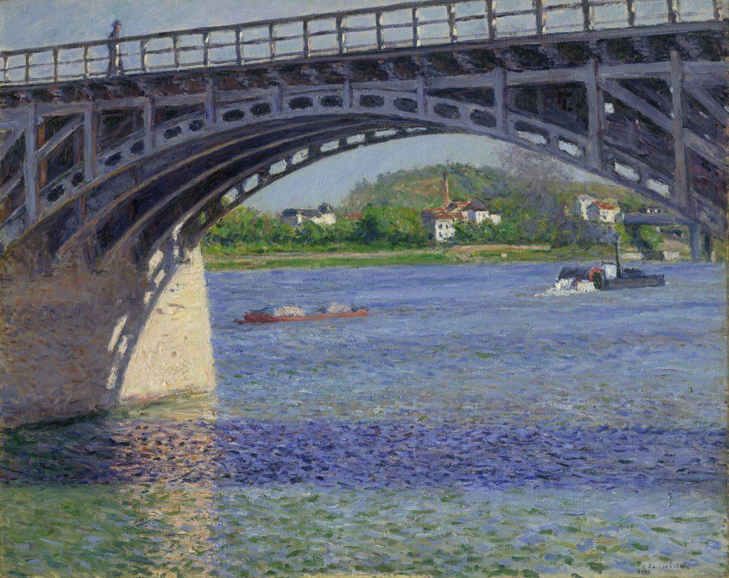 Gustave Caillebotte, Le Pont d_Arg enteuil et la Seine, ca. 1883. Private Collection.