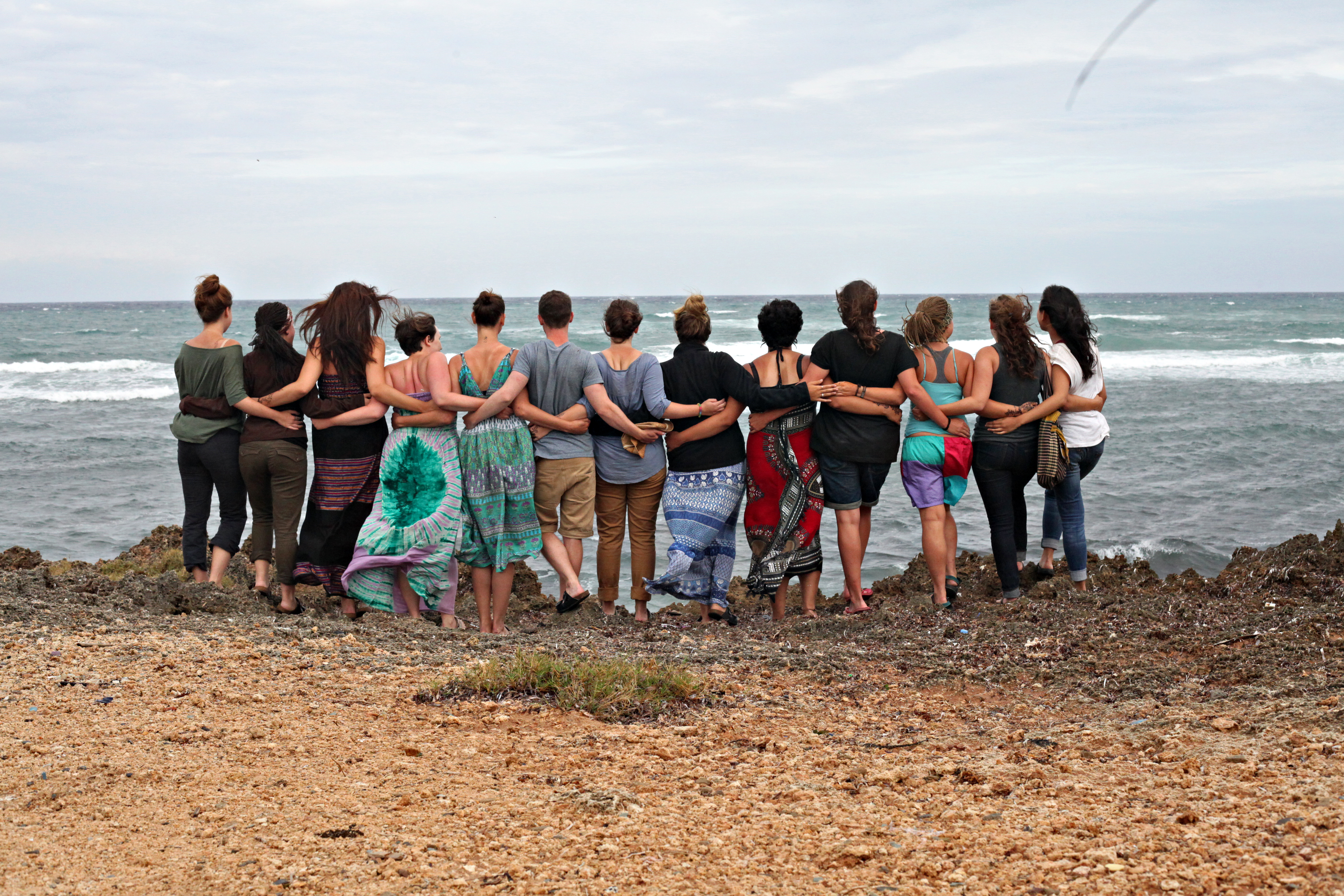 Group at the Edge of the Beach