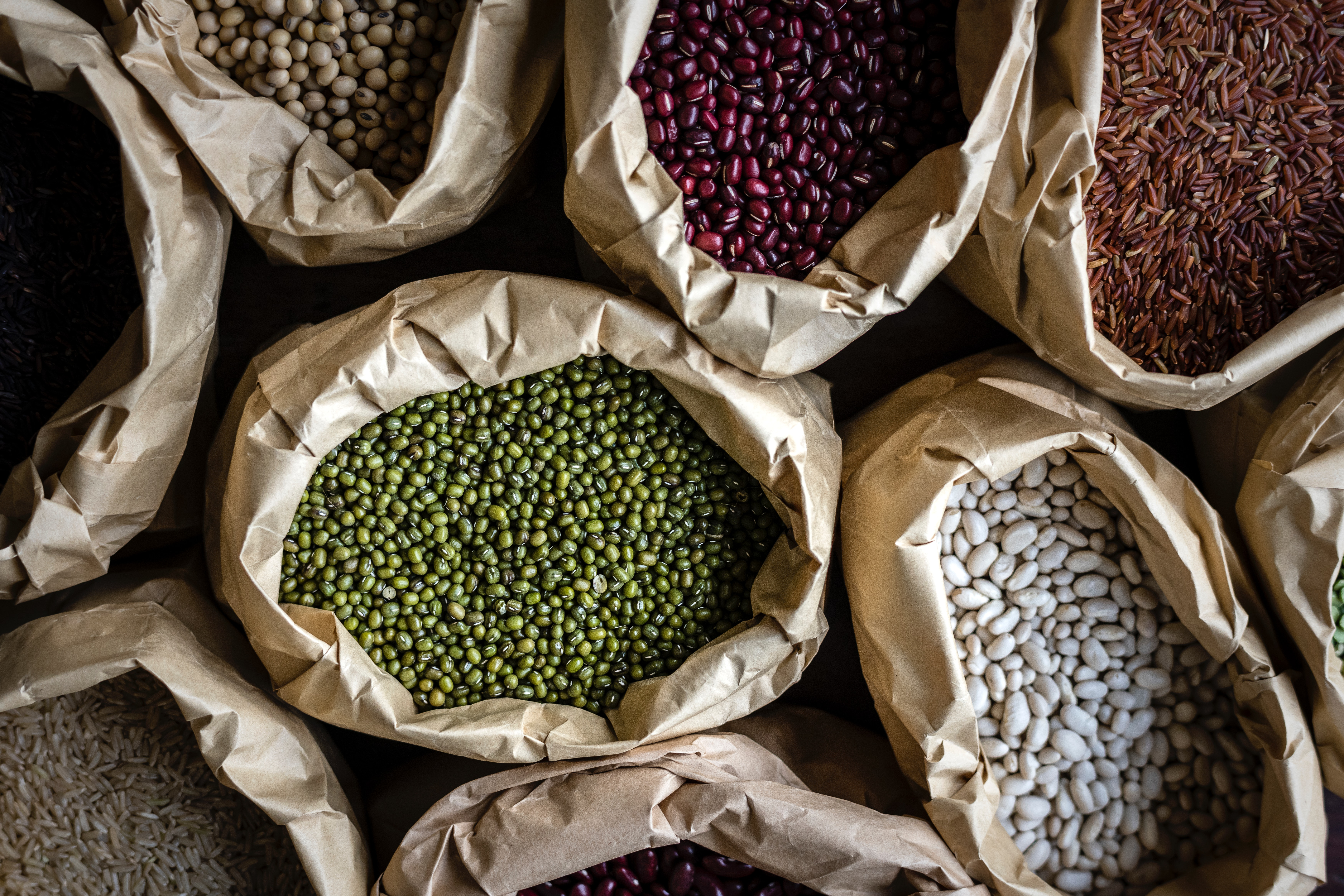 Pulses and beans. Source: Pexels.