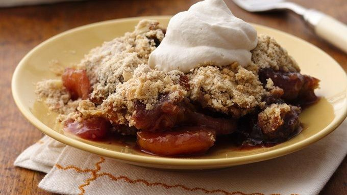 Matzo Meal Peach Berry Crisp