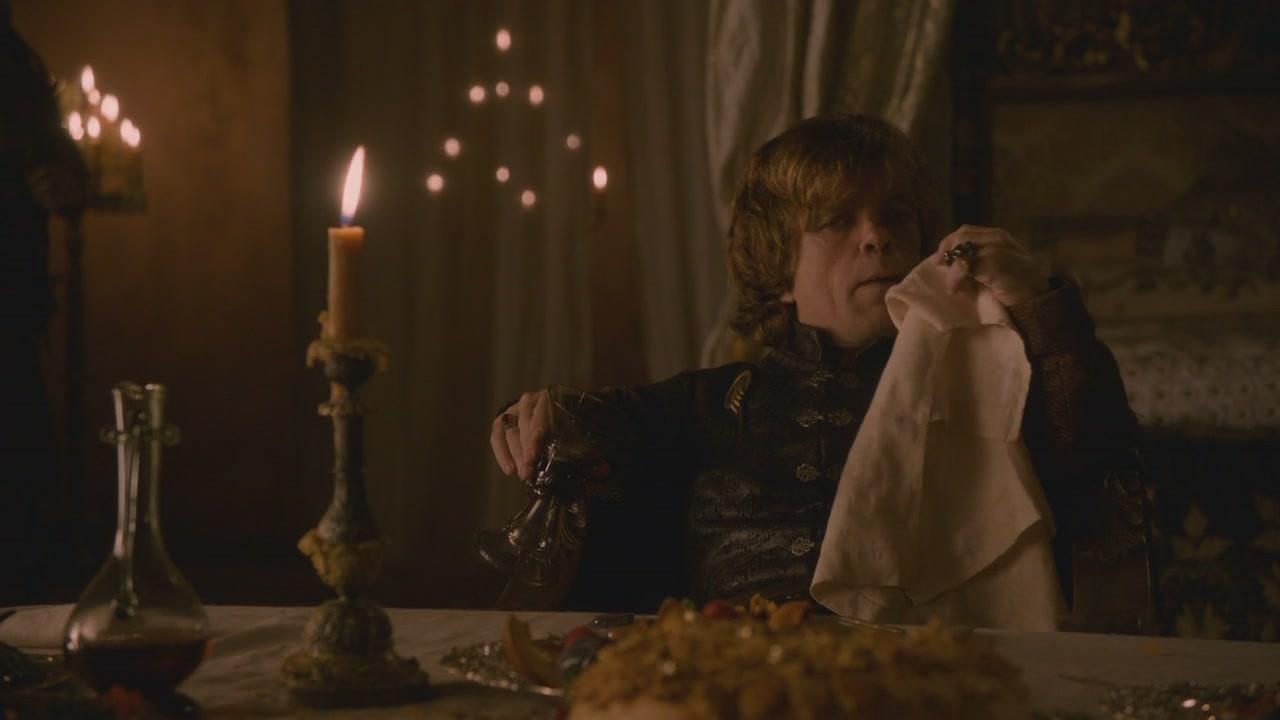 Tyrion eating Lamprey Pie