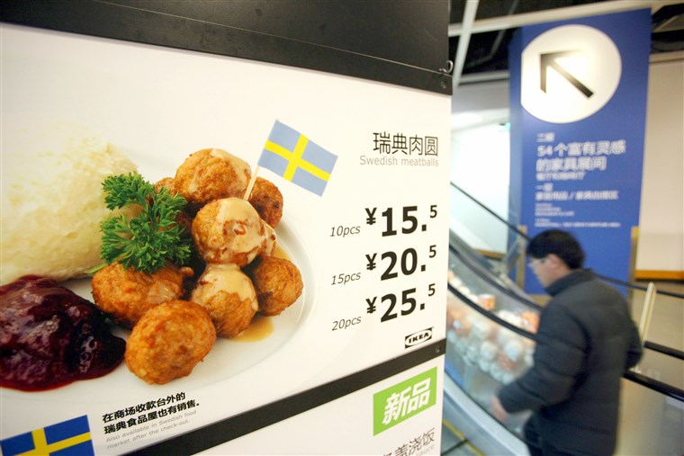 Swedish Meatballs at IKEA restaurant