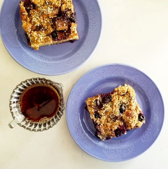 Blueberry French Toast with Maple Syrup
