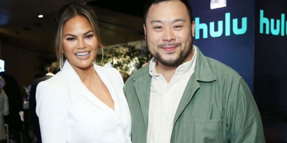 Chrissy-Teigen and David Chang