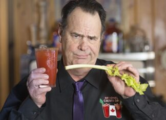 Dan Aykroyd and Caesar