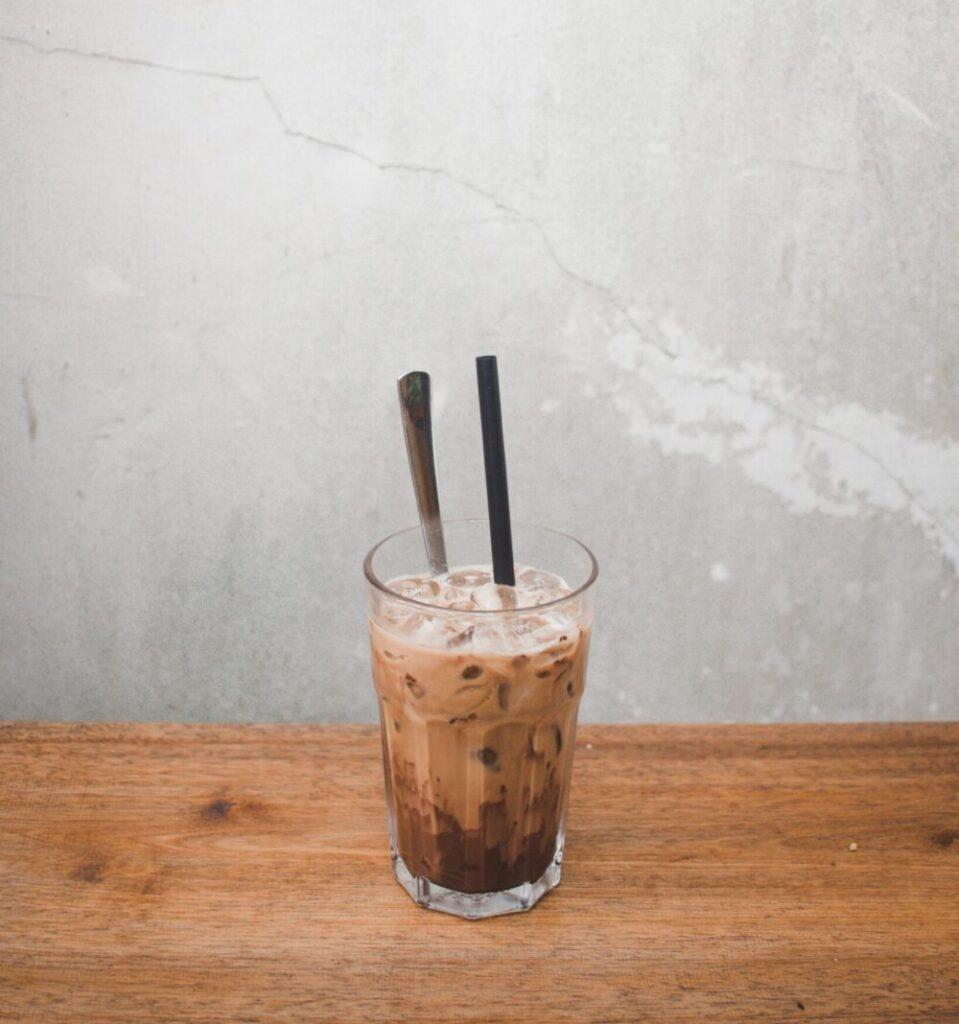 Iced Coffee with Simple Syrup