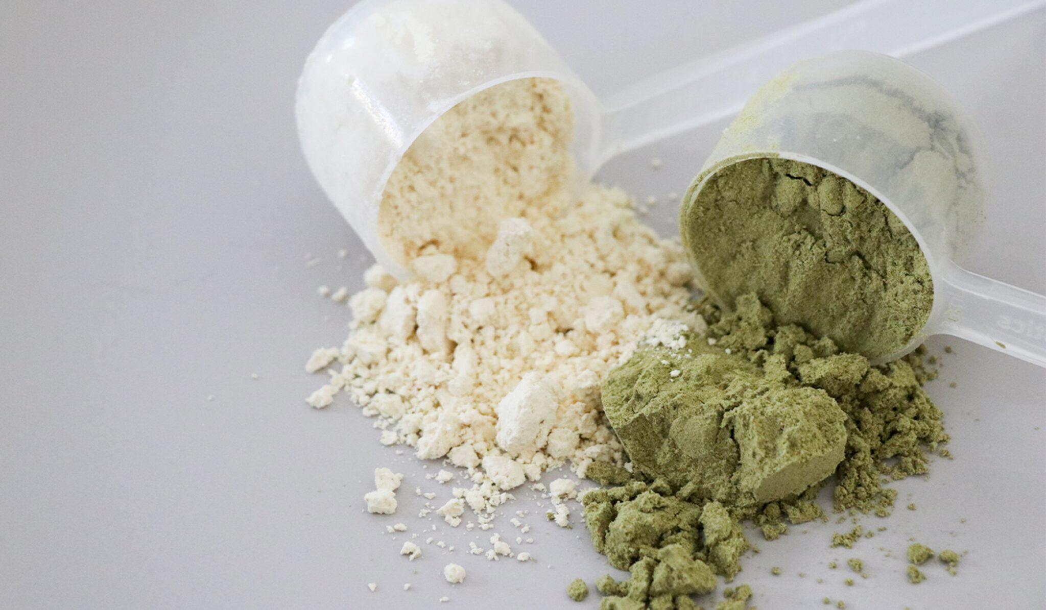 powder, white green